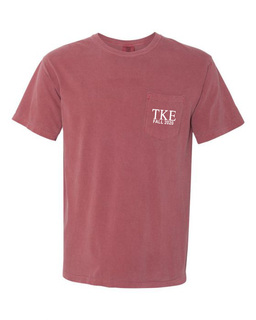 Tau Kappa Epsilon Greek Letter Comfort Colors Pocket Tee