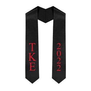 Tau Kappa Epsilon Greek Lettered Graduation Sash Stole With Year - Best Value