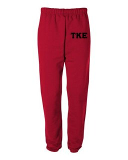 Tau Kappa Epsilon Greek Lettered Thigh Sweatpants
