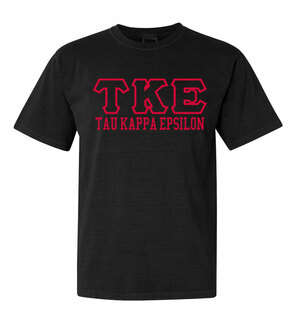 Tau Kappa Epsilon Greek Outline Comfort Colors Heavyweight T-Shirt