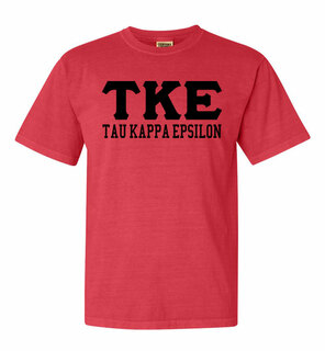 Tau Kappa Epsilon Greek Custom Comfort Colors Heavyweight T-Shirt