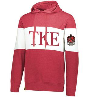Tau Kappa Epsilon Ivy League Hoodie W Crest On Left Sleeve