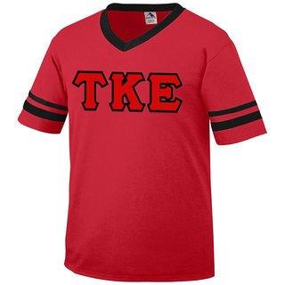 DISCOUNT-Tau Kappa Epsilon Jersey With Greek Applique Letters