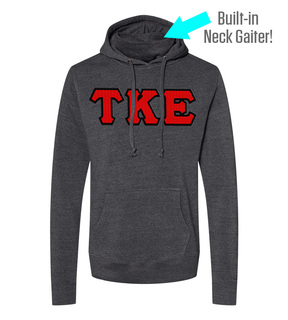 Tau Kappa Epsilon Lettered Gaiter Fleece Hooded Sweatshirt