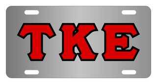 Tau Kappa Epsilon Lettered License Cover