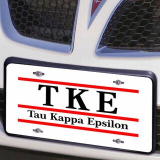 Tau Kappa Epsilon Lettered Lines License Cover