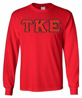 Tau Kappa Epsilon Lettered Long Sleeve Tee- MADE FAST!