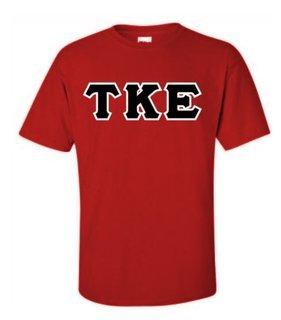 Tau Kappa Epsilon Sewn Lettered T-Shirts