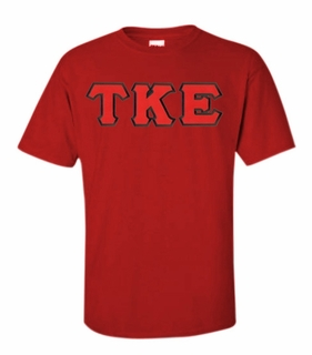 Tau Kappa Epsilon Lettered T-shirt - MADE FAST!