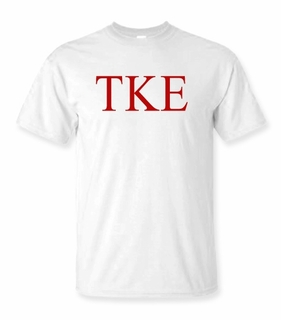 Tau Kappa Epsilon Lettered Tee - $9.95! - MADE FAST!