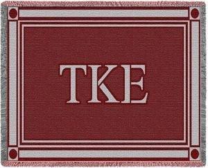 Tau Kappa Epsilon Letters Afghan Blanket