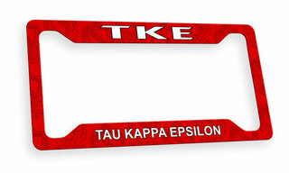 Tau Kappa Epsilon Custom License Plate Frame
