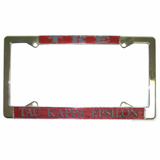Tau Kappa Epsilon Metal License Plate Frame