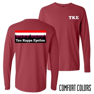 Tau Kappa Epsilon Outdoor Long Sleeve T-shirt - Comfort Colors