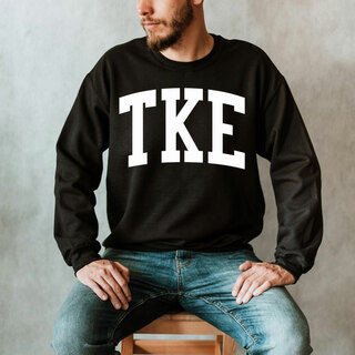 Tau Kappa Epsilon Arched Greek Letter Crewneck Sweatshirt
