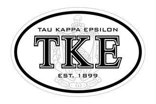 Tau Kappa Epsilon Oval Crest - Shield Bumper Sticker