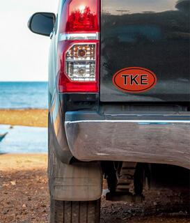 Tau Kappa Epsilon Oval Fraternity Car Magnet Set of 2