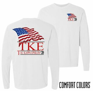 Tau Kappa Epsilon Patriot Long Sleeve T-shirt - Comfort Colors