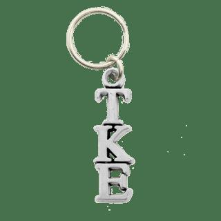 Tau Kappa Epsilon Pewter Letter Key Ring - CLOSEOUT