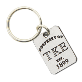 Tau Kappa Epsilon Property of Tag Keychain