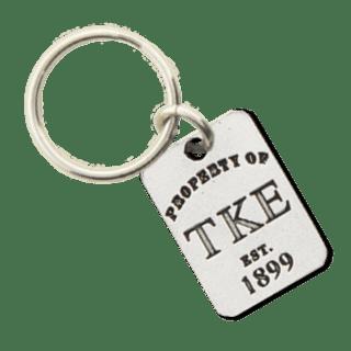 Tau Kappa Epsilon Property of Tag Keychain