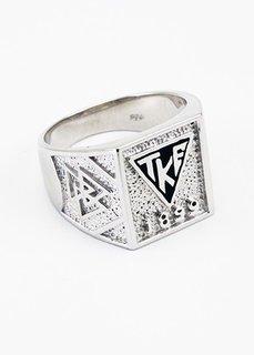 Tau Kappa Epsilon Sterling Silver Enamel House Plate Ring