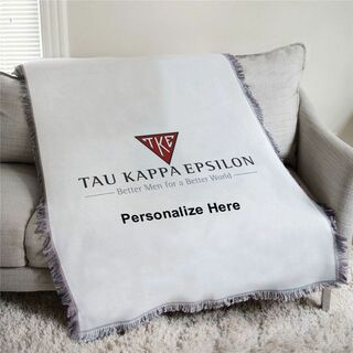 Tau Kappa Epsilon Triangle Afghan Blanket Throw