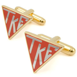Tau Kappa Epsilon Triangle Cuff Links