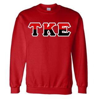 Tau Kappa Epsilon Two Tone Greek Lettered Crewneck Sweatshirt