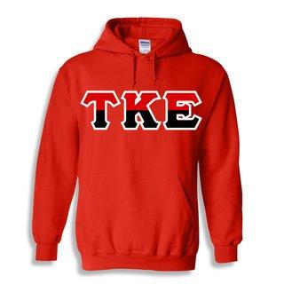 Tau Kappa Epsilon Two Tone Greek Lettered Hooded Sweatshirt