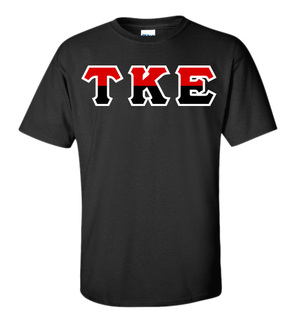 Tau Kappa Epsilon Two Tone Greek Lettered T-Shirt