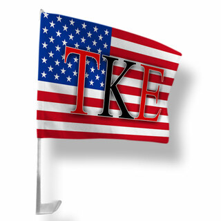 Tau Kappa Epsilon USA Car Flag