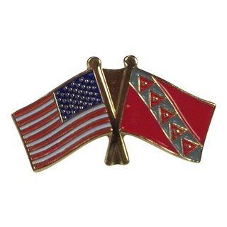 Tau Kappa Epsilon USA Flag Lapel Pin