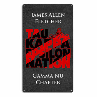 Tau Kappa Epsilon Vintage Metal Wall Sign