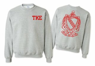 Tau Kappa Epsilon World Famous Crest - Shield Printed Crewneck Sweatshirt- $25!