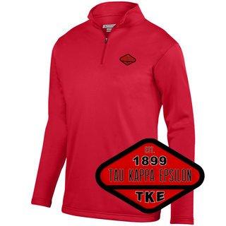 DISCOUNT-Tau Kappa Epsilon Woven Emblem Wicking Fleece Pullover