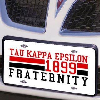 Tau Kappa Epsilon Year License Plate Cover