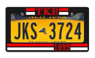Tau Kappa Epsilon Year License Plate Frame
