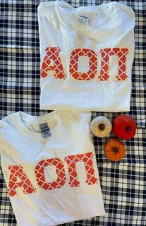 The New Super Savings - Alpha Omicron Pi Sister Tee Set - WHITE