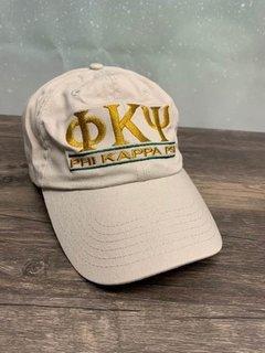 The New Super Savings - Phi Kappa Psi World Famous Line Hat - TAN