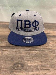 The New Super Savings - Pi Beta Phi Flatbill Snapback Hat Original - GREY