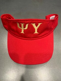 The New Super Savings - Psi Upsilon Greek Letter Visor - RED