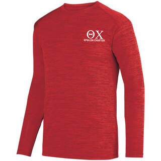 Theta Chi- $22.95 World Famous Dry Fit Tonal Long Sleeve Tee
