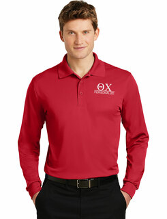 Theta Chi- $30 World Famous Long Sleeve Dry Fit Polo