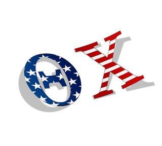 "Theta Chi American Flag Greek Letter Sticker - 2.5"" Tall"