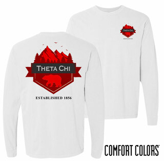 Theta Chi Big Bear Long Sleeve T-shirt - Comfort Colors