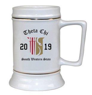 Theta Chi Ceramic Crest & Year Ceramic Stein Tankard - 28 ozs!