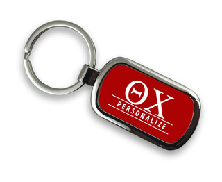 Theta Chi Chrome Custom Keychain