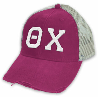 Theta Chi Distressed Trucker Hat