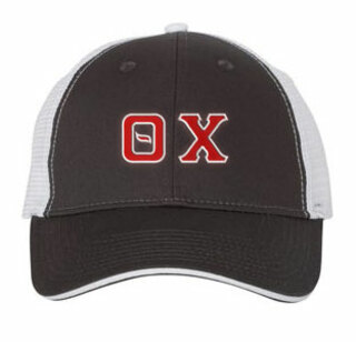 Theta Chi Double Greek Trucker Cap
